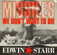 """EDWIN STARR missiles (we don't want to die) 12 HIPPO 105 uk 1985 12"""" PS EX/EX"""