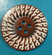 60mm Dark Wooden Patterned Button- Australian Supplier