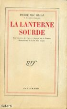 LA LANTERNE SOURDE / Pierre MAC ORLAN / NRF Gallimard