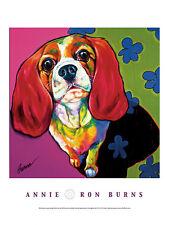 DOG Bassett Hound ART PRINT POSTER - Annie by Ron Burns 24x18