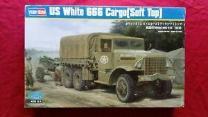1:35 HOBBY BOSS 83802 U.S. ARMY White 666 Cargo Soft top Cabin (HEAVY TRUCK)