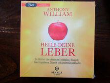 """Anthony William """"HEILE DEINE LEBER"""",2 mp3-CDs,ungekürzt,neu,OVP,ohne Porto"""