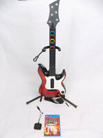 Like New Playstation 4 Ps4 Rock Band 4 Guitar Hero Controller + Dongle + Game