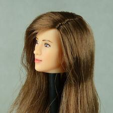 1/6 Scale Lady's Mission, Cy Girl, TTL, ZC - Cute Female Brunette Head Sculpt