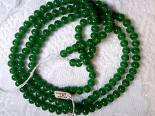 Vtg 1 STRAND JADE GREEN COLOR SPACER BEADS JAPAN GREAT ACCENT! #050812r