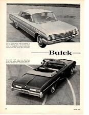 1962 BUICK LsSABRE / ELECTRA / SPECIAL ~ ORIGINAL NEW CAR PREVIEW ARTICLE / AD