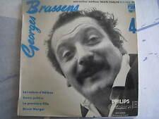 """Georges BRASSENS: """"Les Sabots d'Hélène."""" 45 T. Philips 432.068 BE"""
