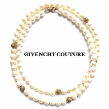 GIVENCHY COUTURE  PEARL GOLD FLAPPPER BRIDAL NECKLACE