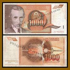 Yugoslavia 1000 Dinara, 1990 P-107 Circulated