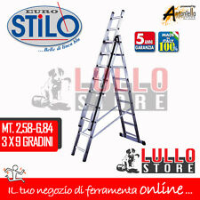Scala a sfilo Facal Stilo 3 Rampe 9 9 9 scalini in alluminio