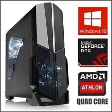 Nvidia Quad Core Gaming Computer Desktop PC Tower 3.8GHz Turbo 16GB RAM GTX 1050