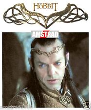 CORONA TIARA ELROND THE HOBBIT GOLD CROWN THE LORD OF THE RINGS LO HOBBIT NUOVO
