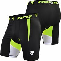RDX Men's MMA Thermal Compression Shorts Flex Base Layers Sports Boxing Exercise
