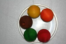 """Parrot Toy Making 6 Each Colorful!' Ball with 1-1/2"""" with 3/8"""" Hole PTP023"""