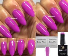 BLUESKY GEL POLISH DEEP PINK / PURPLE NAIL UV LED SOAK OFF, ANY 2 = FILE+WIPES