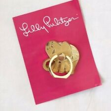 New With Tag Nwt Lilly Pulitzer Thai Elephant Ivory Gold Phone Ring Holder