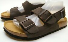 BIRKENSTOCK BETULA BROWN LEATHER ANKLE STRAP SANDALS SHOES SZ WOMENS 9 MENS 7