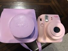 Fujifilm Instax Mini 8 Instant Film Camera Pink & Carrying CASE (may be broken!)