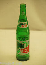 Old Vintage Mountain Dew Beverages Soda Pop Bottle 10 fl. oz. ~ White Top Logo