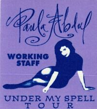 Paula Abdul Concert 1991 Under My Spell Tour Backstage Pass
