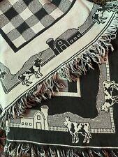 Black And White Throw Blanket, Farm Theme