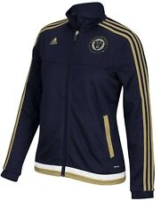ADIDAS MLS Philadelphia Union Navy Blue Anthem Track Soccer Jacket Womens Sz L