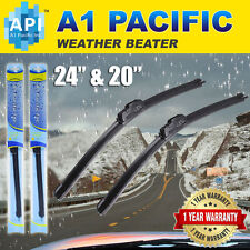 "All season Bracketless J-HOOK Windshield Wiper Blades OEM Premium 24""+20"" (2PCS)"