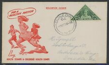 New Zealand, Fdc, #B22, W/Clean Red Cachet, 1943