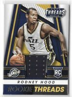 2014-15 Threads Rodney Hood Rookie Jersey Relic SP No. 45