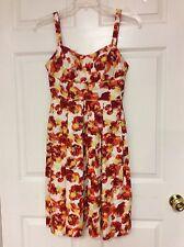 81e3fb94289 ladies dress size 6 CATO empire waist red orange spandex floral 36