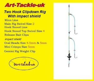 5 Basic Two Hook Clipped Rig With Impact Shield