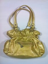 Kathy Van Zeeland Gold-Yellow Shoulder Strap Satchel Purse/Handbag