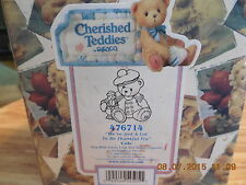 Cherished Teddies Bear Figurine Cole We'Ve Got A Lot To Be Thankful For 476714