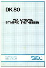 SIEL DK80 Service Manual Schematic Diagrams Schaltplan Schema elettrico DK-80