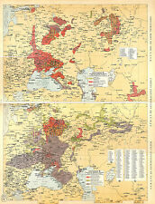BIG SIZE INDUSTRIAL MAP CARTE ATLAS 1950: USSR URSS СССР CCCP RUSSIA RUSSIE