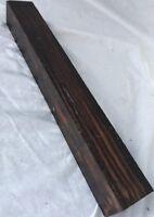 Macassar Ebony Hardwood 1.5x1.5x12 Cue Building Game Calls Knife Handle Timber