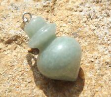 Natural green aventurine carved  crystal gemstone healing pendant