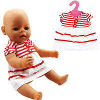 Handmade Gift Red Striped Dress Party Fit For 18''American Girl Doll Clothes New