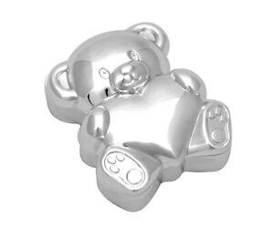 Zahndose für Milchzähne versilbert anlaufgeschützt mit Namen personalisiert Bär
