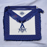 Masonic Blue Lodge Master Mason Apron Regalia Blue Silk Fringes - WLC