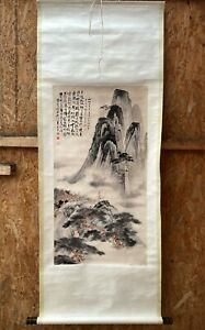 Chinese Huge Detail Landscape Hanging Ink Paintings & Scroll Asian China 20th 绘画