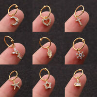 Crystal Ear Piercing Dangle Earring Cartilage Helix Tragus Stud Jewelry Fashion
