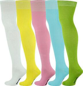 Mysocks 5 Pairs Over the Knee Socks Plain