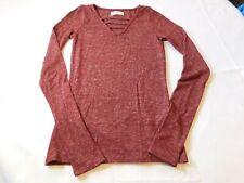 Hollister California Women's Junior's Long Sleeve Sweater XS xsmall Burgandy--