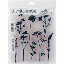 """""""Tim Holtz Cling Stamps 7""""""""X8.5""""""""-Wildflowers"""""""