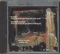 BEETHOVEN / MENDELSSOHN-BARTHOLDY CELLO-SONATEN / SCHWALKE / ADLER * CD 1982 *