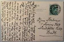 FOURNIER, Bath (Somerset)  Family History Interest, Postcard 1904