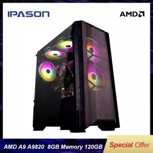 GAMING PC HOT SELLING A9 9820 8 CORE APU R7 350 INTEGRATED CARD AND MORE......