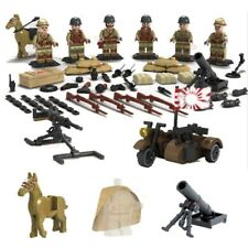 Japanese Army WW2 Soldiers Building Blocks Models 6 Figures w/ Weapons