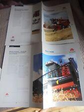 Lot Catalogues Anciennes Moissonneuses Batteuses Massey-Ferguson 1994